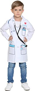 Child's Doctor Costume Boys Girls Chief Surgeon Nurse Halloween Dress up