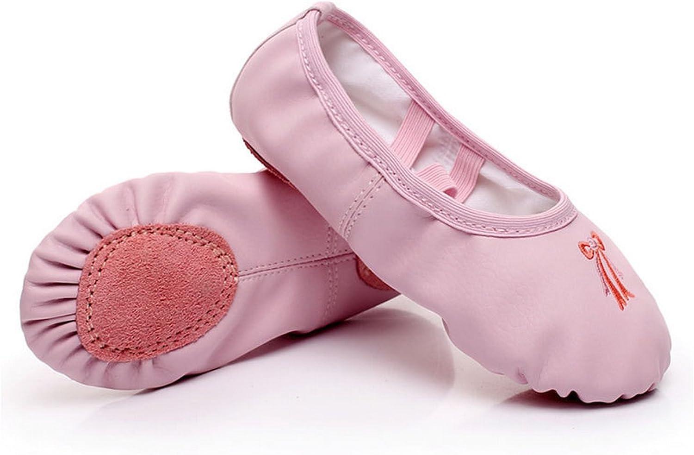 Cheap SALE Start Girls Leather New color Ballet Shoes Pink Split Gymnastics Sol Dance