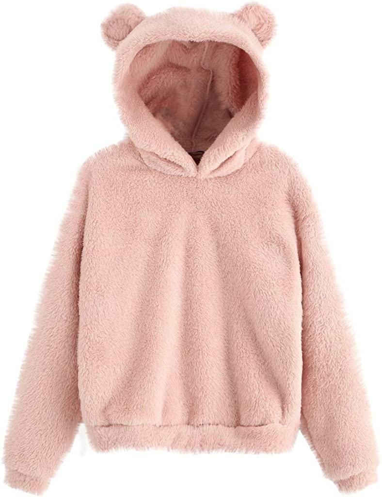 Popular product Womens Pullover Sweaters Sweatshirt Crewneck Furry Long Quality inspection Sleeve S