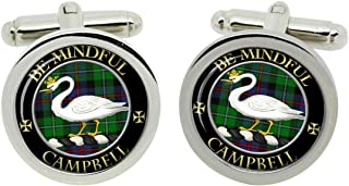 Enamel Jewelry Scottish Clan Campbell of Cawdor Crest Cufflinks with Gift Box