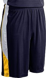 CHAMPRO Rebel Polyester Basketball Short, Adult 2X-Large, Navy, Gold, White