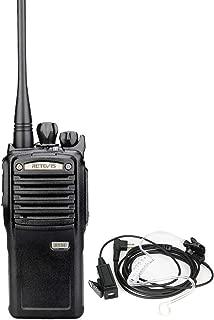 Retevis RT54 2 Way Radio Digital Long Range Waterproof UHF Detachable Speaker SMS Group Call Alarm VOX Heavy Duty Walkie Talkies with Headset (1 Pack)