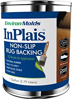 InPlais Non-Slip Area Rug Backing (1-Gallon) Fabric & Floor Safe Latex Layer   Easy, Paint-On Application Liquid   Kitchen, Bathroom, Hallway, Living Room   Dries Quickly