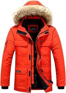 IZHH Men's Parka Coat with Hood Down Jacket Winter Thick Outwear Puffer Overcoat