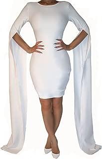 Women's Sexy Fashion Stylish Split Floor Length Sleeve Slim Fit Bandage Club Dress