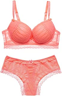 88322b772c Sexy ABC Push Up Women Bra Set Lace Hollow Out Underwear and Panty Set  Young Lady
