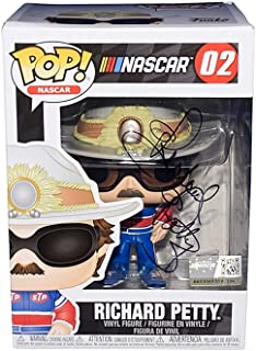 AUTOGRAPHED 2019 Richard Petty #43 STP Racing NASCAR FUNKO POP (Petty Motorsports) Rare Signed Collectible Official Vinyl Figure/Figurine with COA