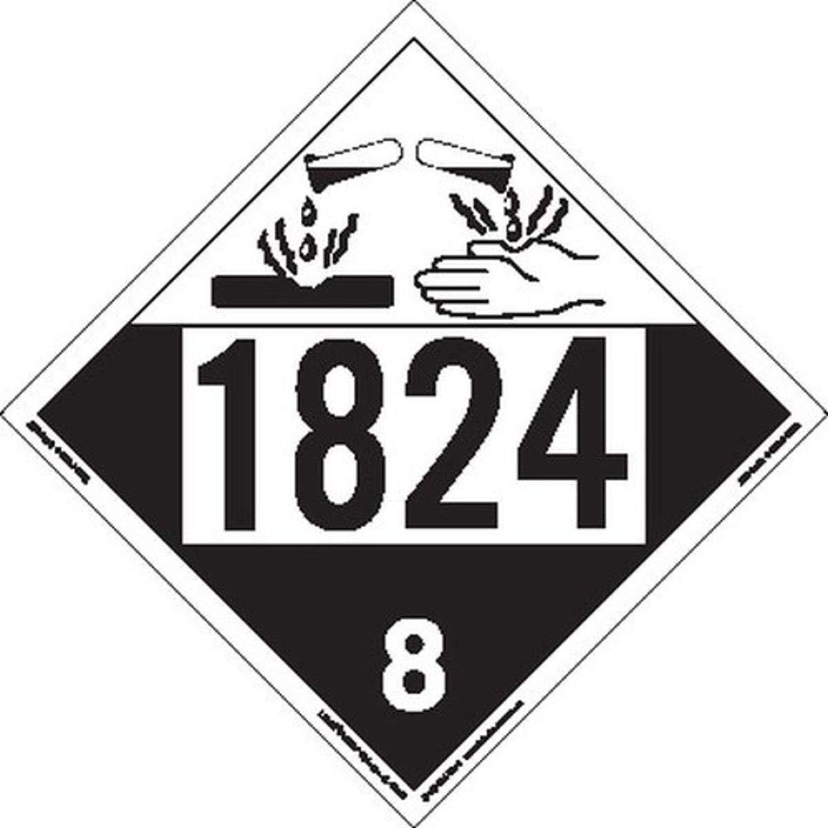 Labelmaster ZT4-1824 Limited price UN 1824 Cheap super special price Tagboard Placard Corrosive Hazmat