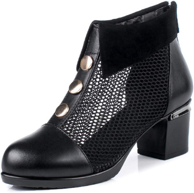 Sandalen für Damen Atmungsaktive Chelsea-Stiefel Lässige Martin-Stiefel Ankle-Stiefel spitze High Heels    Gewinnen Sie das Lob der Kunden