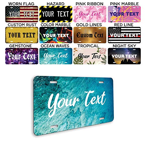"Personalized Front License Plates - Custom License Plate for Front Car - Personalized License Plates for Front of Car - Car Tags - Customized License Plates - 6""x12"" Metal Plate - Made in USA"