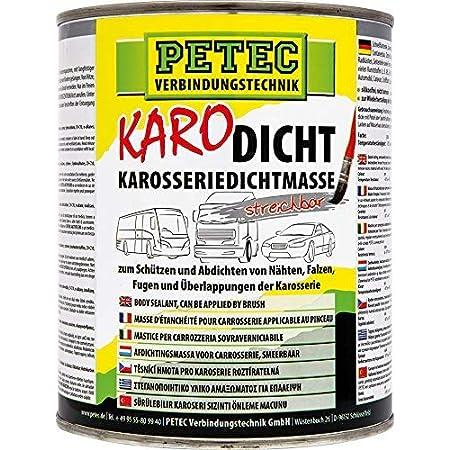 Förch K129 Karosserie Dichtmasse 1kg Dose Streichbar Für Einfache Pinselverarbeitung Schnell Trocknend überlackierbar Dauerelastisch Auto