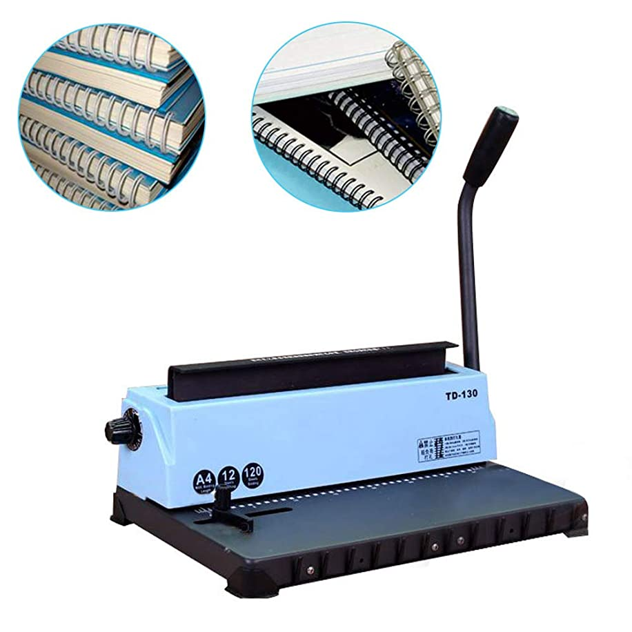 Funwill Binding Machine, 34 Holes Punching Binding Machine Spiral Coil Punching Binding Machine Professionally Bind Books and Documents Punching and Binding for Office & Home - Shipped from US
