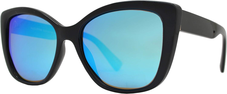 Be One Women Cat Eye Sunglasses Polarized UV400 Rimmed Classic Retro Oversized Square Framed