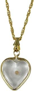 4030125 Mustard Seed Heart Capsule Pendant Necklace Christian Scripture Matthew 17:20