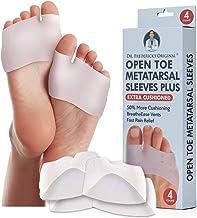 Dr. Frederick's Original Metatarsal Sleeves Plus - 4 Pieces - 50% More Cushioning - Fit Guarantee - Metatarsal Pads for Women & Men