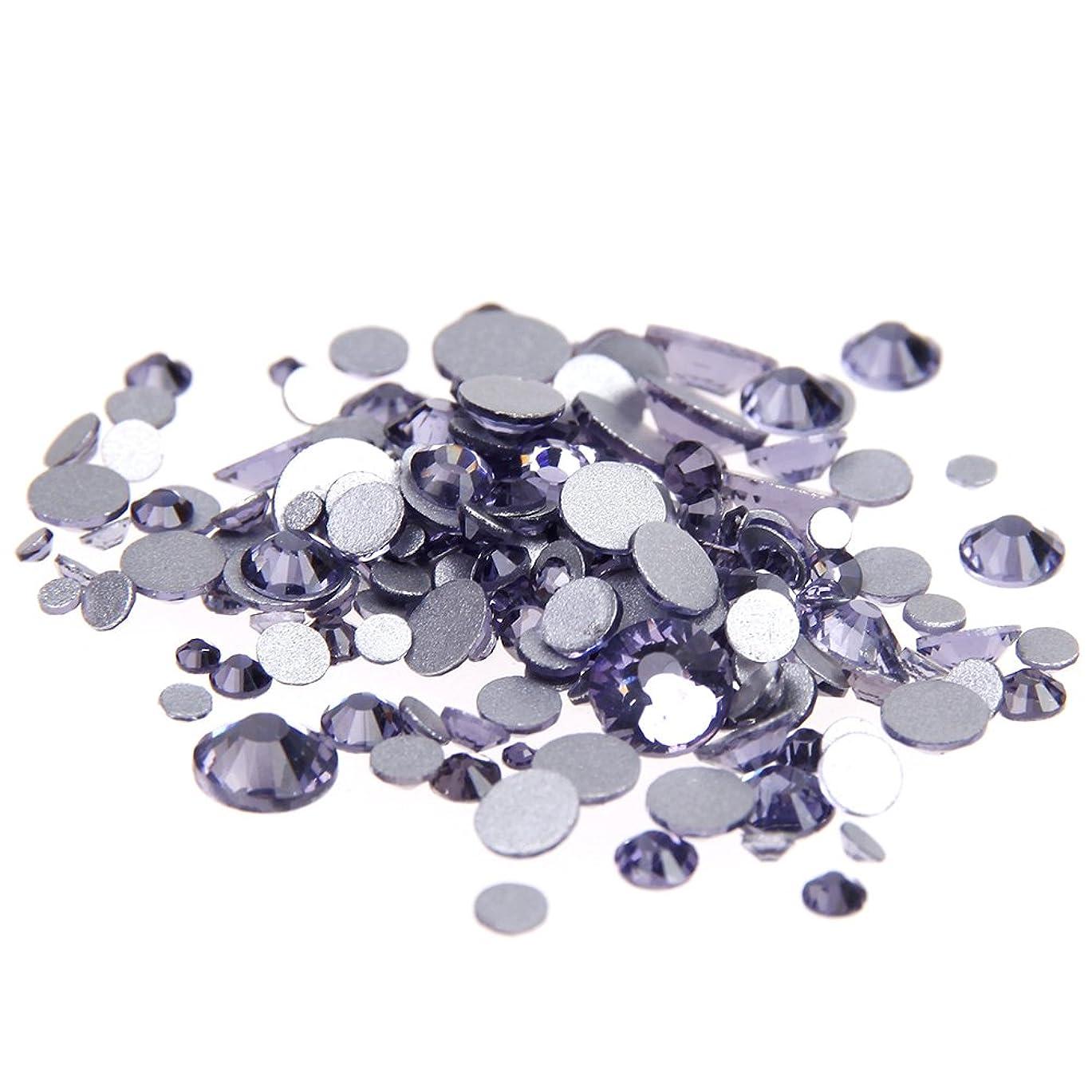 本体ギャングスター生産的Nizi ジュエリー ブランド タンザナイト ラインストーン は ガラスの材質 ネイル使用 型番ss3-ss34 (SS3 1440pcs)