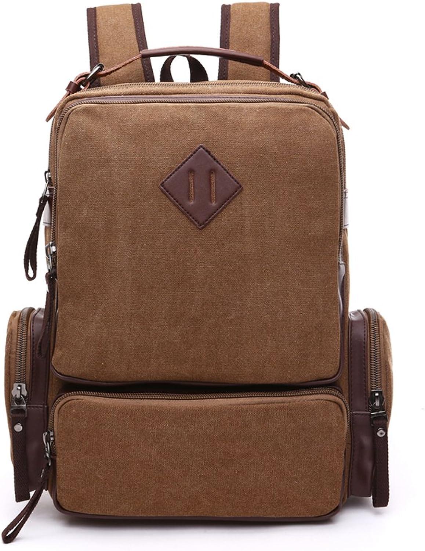 Mocha weir Laptop Backpack Retro School College Backpack (brown)