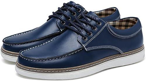 GAOLIXIA Herren Leder Business Casual Schuhe Frühling Herbstmode Breathable Single Schuhe Arbeit Karriere Schuhe Größe Größe 38-46