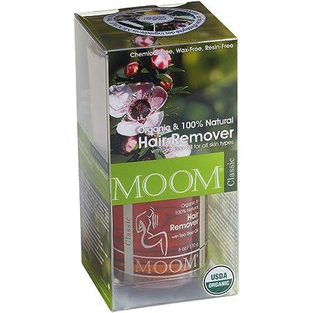 MOOM Organic Hair Removal Kit, Tea Tree, 6-Ounce Package (MST)