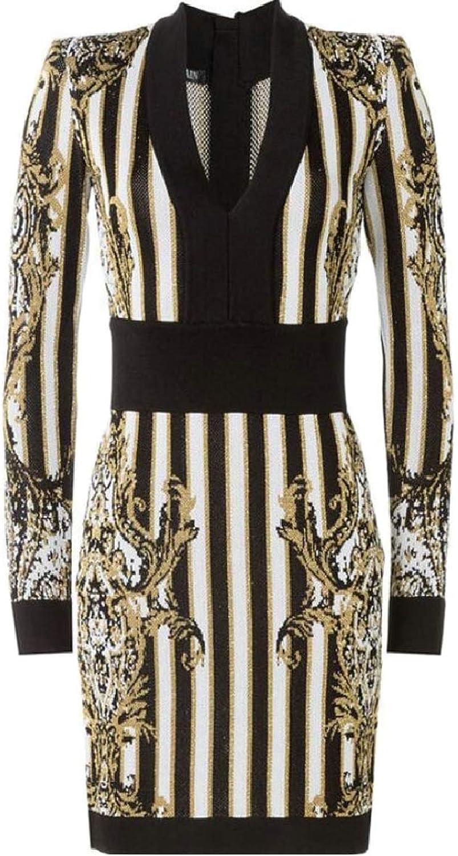 Xswsy XGCA Womens Winter Long Sleeve Bodycon Gothic V Neck Knit Party Short Dress