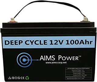 AIMS Lithium Battery 12V 100Ah LiFePO4