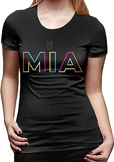 Women Short Sleeve Bad Bunny Mia Funny Shirt