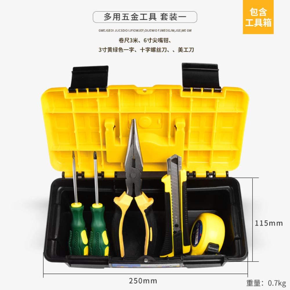 Juegos De Herramientas Manuales Inicio Herramienta Manual Conjunto Hardware Electricista Mantenimiento Caja Multifunción,[5 Juegos]: Amazon.es: Bricolaje y herramientas