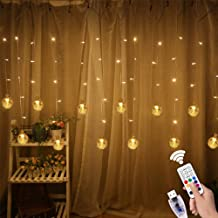 Dillitop Window Curtain String Lights, USB Fairy Lights 80 LED Lights 10 Twinkle Bulbs with Remote for Wedding Party Garden Bedroom Outdoor Indoor Wall