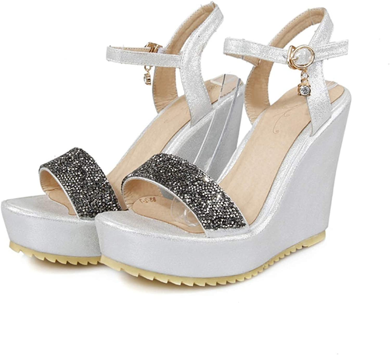 Heart to Hear Sexy Sandals Women Party Wedding shoes high Heels Round Toe,