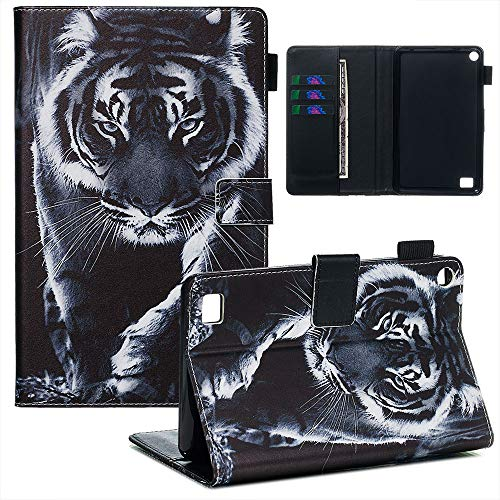 Jorisa Tablet Case Compatible with iPad 9.7 2017 iPad 9 iPad 8 //iPad 9.7 2018 ,Slim Leather Magnetic Smart Auto Wake//Sleep Cover Flip Folio Stand Wallet Case with Card Slots,Glasses Cat