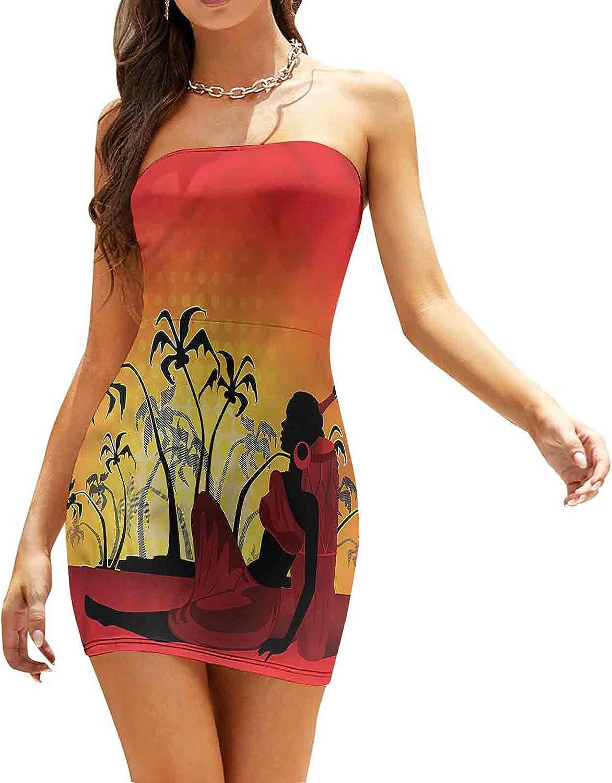 SUZM Women's Tube Top Beach Mini Dress Woman Dress Dresses