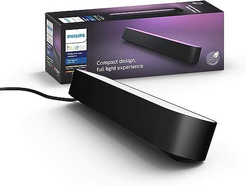 Philips Hue Play- White & Colour Ambiance Smart LED Bar Light- Black 1 Pack (Base Kit)