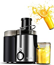 WantJoin Juice Extractor, Multi-Function Juicer Machines Fruits & Vegetables Mixer, Double Speed Centrifugal Juicer with Anti-drip Function, Stainless Steel Juicers Easy to Clean (Silver)