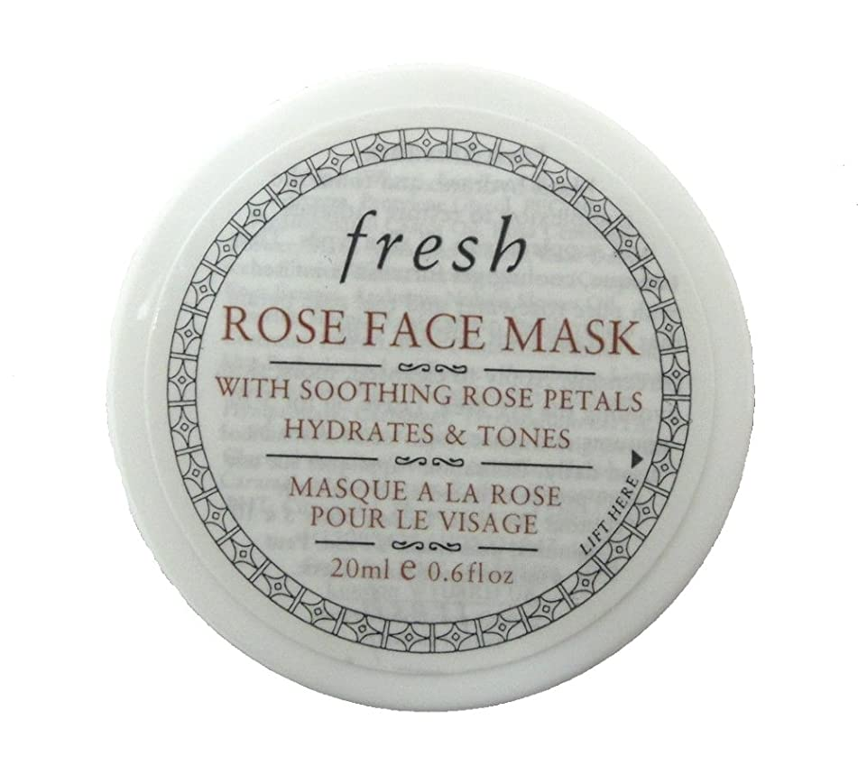Fresh Rose Face Mask with Soothing Rose Petals, Travel Size