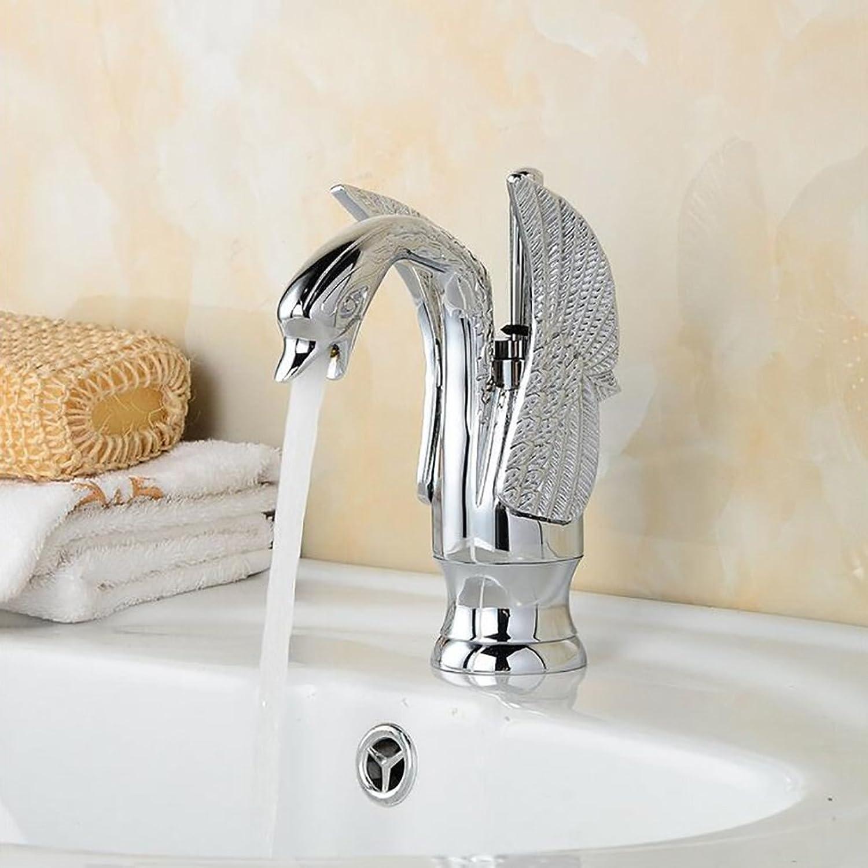 Rubinetto FANGQIAO SHOP Bad Wasserhahn, Retro Hhe Wasserhahn, Hotel Einlochmontage hochwertige Keramik Becken Mischbatterie