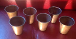 Southern Charm Market 6 Primitive Brass Sugar Mold Plant or Candle Cups