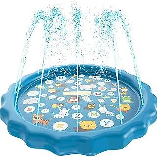 Piscina Rociador Mat Splash Pad Niños Water Play Mat Sprinkle Wading Pool para Niños Pequeños Niños Summer Outdoor Garden Activities Tumbonas