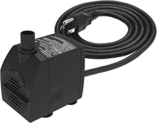 Submersible Water Pump 6.1ft Power Cord 200GPH Ultra Quiet Pump with Dry Burning Protection for Fountains, Hydroponics, Ponds, Statuary, Aquariums & More