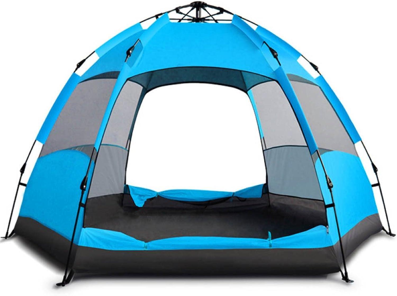 LBAFS Doppelt überlagertes Automatisches Sofortiges Pop-up-Zelt Im Im Im Freien Anti-UV Wasserdichtes Regen-Beweis Für Kampierendes Wanderndes Fischen-Strand,Blau(B) B07GNHWXGQ  Qualitätskönigin 66ccf0