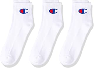 Champion Men's Script Cushion Quarter Crew Socks (3 Pair)