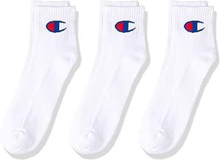 Champion Men's Script Cushion Quarter Crew Socks (3 Pair)