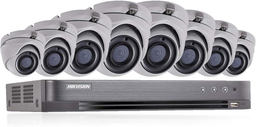 HIKVISION 5MP CCTV sistema de seguridad 4K DVR 8CH 2TB H.265+ HIK 5MP 2.8mm 8X cámaras al aire libre Kit de visión nocturna