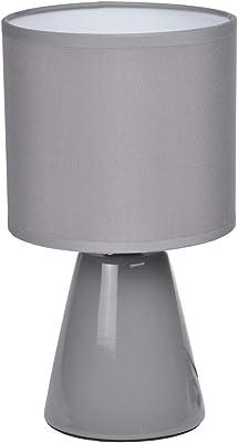 HOMEA 6LCE066GR LAMPE, CERAMIQUE, 40 W, GRIS, L.12l.12H.22CM