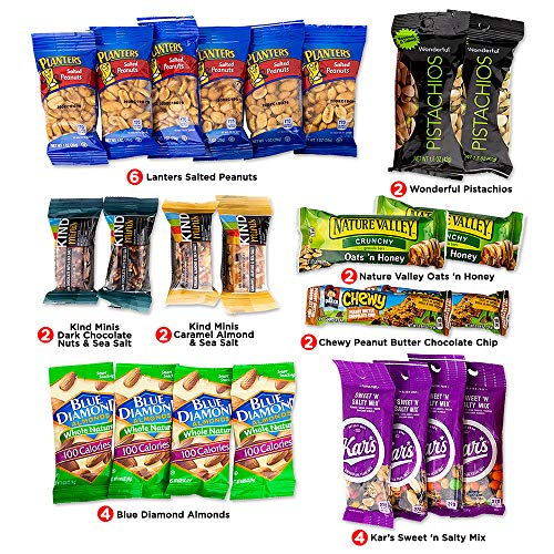 Variety Snacks Care Pack (24 Count) | Healthy, Salty/Savory