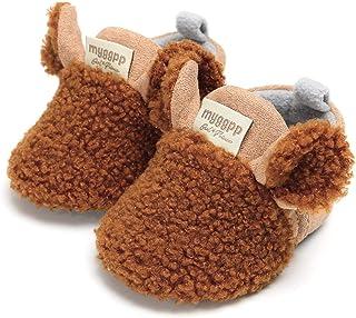 Carolilly Invernali Caldi Carino Baby Toddler da Bambino Neonato Antiscivolo Fondo Morbido Scarpe da Bambino Stivali di Lana