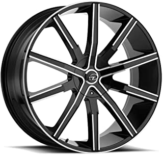 VCT V80 Сustom Wheel - Machined Black with Machined Face 22