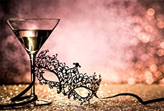 LFEEY 7x5ft Carnival Backdrop Wine Glass Boken Background Mardi Gras Sexy Masquerade Lace Mask Backdrops for Photography Photo Studio Props