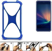 K-S-Trade Parachoques para Hisense A2 Pro Funda Bumper Anillo Protector de Silicona Cubierta de la Caja TPU Softcase Protector Azul (1x)