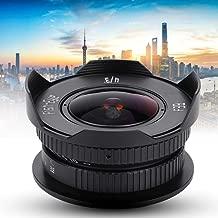 Yoidesu 8mm f/3.8 HD Fisheye Lens,Ultra Wide Angle Fisheye Lens for Micro Four Thirds,C Mount Fisheye Fixed Lens