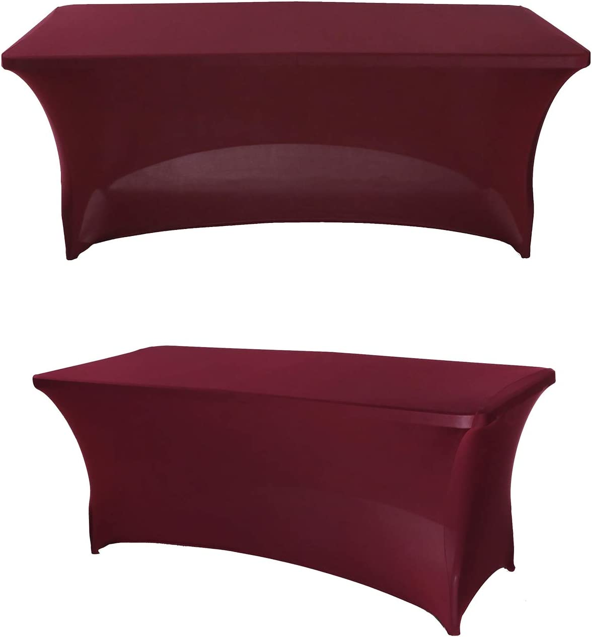 SweetEasy 4FT OFFicial Pack of 2 Spandex Atlanta Mall Cover Stretchable Fitted Table T